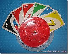 handmade card holder for little hands. Original instructions: http://mama-jenn.blogspot.com/2011/11/card-games-made-easy-card-holder-for.html