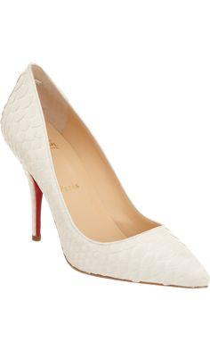 Christian Louboutin Python Batignolles // perfect summer shoe to wear w/ white on white
