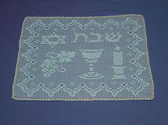 Handmade Crochet  Challah Cover (Style Number: IV 1101)