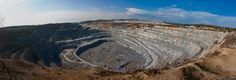 Panoramic view of a Russian quarry.