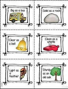Idioms and similes are fun to study with the Hats Off to Figurative Language center and Mystery Hat game. The Mystery Hat game is a great activity to do when your students have the wiggles! Students will get additional practice when they sort idioms and similes during center time.$