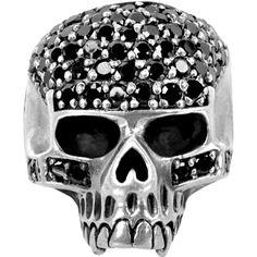 INOX Jewelry 316L Stainless Steel Black CZ Skull Ring | Body Candy Body Jewelry