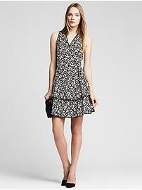 Squiggle Print Flounce Dress
