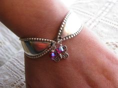 spoon bracelet. Always thought these were cute-maybe with a different charm on it