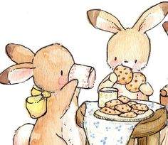 Cookies and Milk Children Art. PRINT 8X10. by LoxlyHollow, $24.00