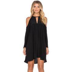 Amanda Uprichard Jasmine Dress Dresses ($224) ❤ liked on Polyvore featuring dresses, cold shoulder dress, cut out shoulder dress, silk dress, amanda uprichard and open shoulder dress