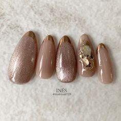 French Manicure Nails, Gel Nails, Stylish Nails, Trendy Nails, Nail Art Designs Videos, Nail Designs, Japan Nail, Nail Techniques, Korean Nails