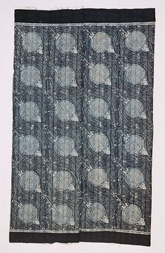 "Africa | Adire elecko ~ ""Tortoise"" pattern, 1975-86 