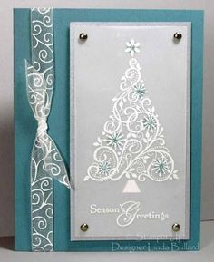 Swirled Tree by labullard - Cards and Paper Crafts at Splitcoaststampers Snow Swirled Season of Joy (top) by marcy Homemade Christmas Cards, Christmas Cards To Make, Homemade Cards, Holiday Cards, Christmas Layout, Christmas Island, Prim Christmas, Cheap Christmas, Christmas Jumpers