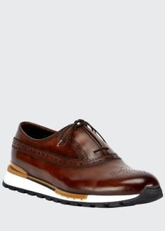 Men's Fast Track Torino Calf Leather Sneaker Brogues, Loafers, Leather Sneakers, Calf Leather, Calves, Oxford, Luxury Fashion, Track, Lace Up
