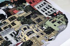 San Francisco Silkscreen Limited Edition Art by HeroDesignStudio