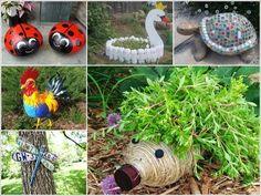 25 Gorgeous Recycled Garden Ideas for Cheap Garden Inspiration Garden Crafts, Garden Projects, Home Crafts, Garden Tools, Projects To Try, Garden Junk, Diy Crafts, Garden Sheds, Ideas Para Decorar Jardines