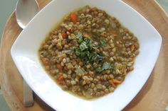 Lentils are incredibly healthy: high in fiber, iron and protein. And what better way to eat them than in a delicious, filling soup?