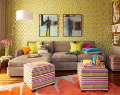 Room of the Day: Playing Up Color in a California Lounge