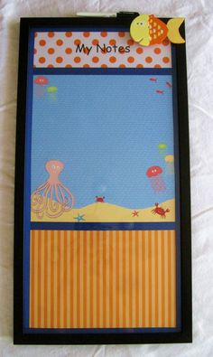 Decorative Dry Erase Message Board  Art for Kids by MoxieMommas, $75.00