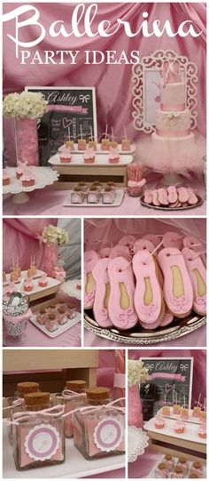 What a pretty pink ballerina birthday party! See more party ideas at CatchMyParty.com!
