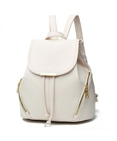 d3b8a6ca37fe Backpack for Women Casual Purse Daypack PU Leather School Shoulder Bag -  Beige2 - CQ186LZTNEE #