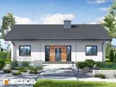 Dom w kostrzewach 4 Shed, Floor Plans, Outdoor Structures, Exterior, Windows, Flooring, Outdoor Decor, House, Mens Suits