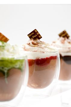 Mousse glacée from Jean-Paul Hevin, Framboise, Matcha and Chocolat!