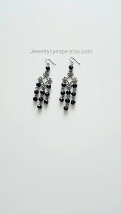 Hey, I found this really awesome Etsy listing at https://www.etsy.com/listing/228657276/black-earrings-crystal-earrings-dangle