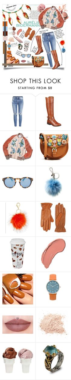 """outfit of the day by SaSoZa"" by sasooza ❤ liked on Polyvore featuring H&M, Marc Fisher, Aurélie Bidermann, RED Valentino, Illesteva, Michael Kors, UGG Australia, Könitz, NYX and The Horse"