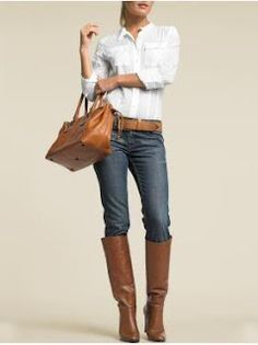Jeans and Brown Boots