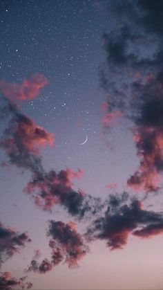 Beautiful night sky iphone wallpaper , iphone background ,phone wallpaper , evening sky, evening sky with crescent moon and stars Wallpaper Pastel, Night Sky Wallpaper, Cloud Wallpaper, Fall Wallpaper, Iphone Background Wallpaper, Aesthetic Pastel Wallpaper, Galaxy Wallpaper, Nature Wallpaper, Aesthetic Wallpapers