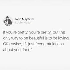 Congratulations about your face