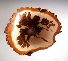Lathe Turned Sugar Maple Burl Bowl by JLWoodTurning on Etsy