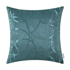 Calitime Throw Pillow Shells Cover Teal 20 by 20 Inches Jacquard Ring Circle Geometric Accent Home Decor Both Sides * Check out the image by visiting the link. Note: It's an affiliate link to Amazon