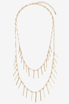 Double Up Metallic Necklace - Accessories | Necklaces