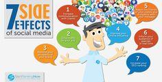 7 efectos secundarios del Social Media #infografia #infographic #socialmedia