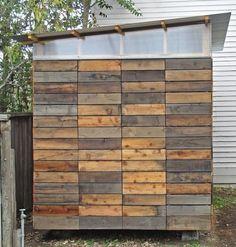 Reclaimed Redwood Garden Shed by Joseph Sandy