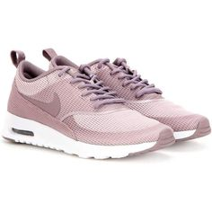 Nike Nike Air Max Thea Txt Sneakers (€115) ❤ liked on Polyvore featuring shoes, sneakers, nike footwear, nike sneakers, light pink shoes, nike shoes and nike trainers