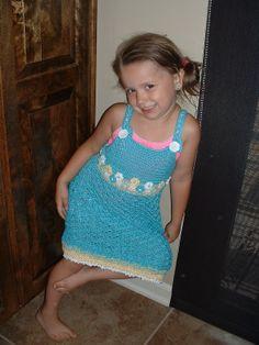 Crochet Thread Dress for Granddaughter
