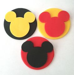 Fondant Mickey Cupcake Toppers