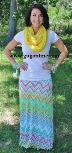 I Refuse To Let You Go Bright Chevron Skirt  $39.95  www.gugonline.com