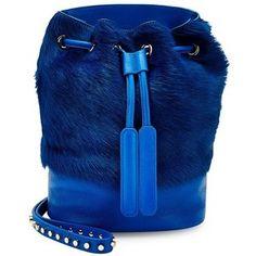Luna Theo Mini Fur Crossbody Bucket Bag