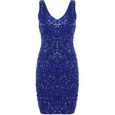 PrettyGuide Women Sexy Deep V Neck Sequin Glitter Bodycon Stretchy... ($10) ❤ liked on Polyvore featuring dresses, sequin bodycon dress, sexy blue dresses, blue mini dress, blue dress and sequin cocktail dresses