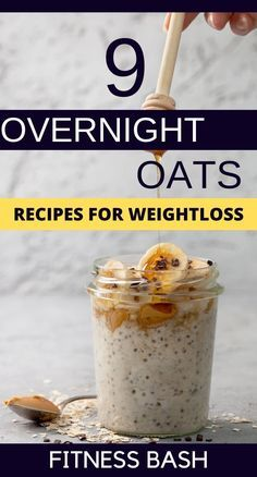 Overnight Oats Recipe: 9 Best Overnight Oats to Lose Weight Quick Healthy overnight oats in a jar or an overnight oats casserole for the early morning breakfast. A high protein diet with blueberry or strawberry toppings. Best Oats Recipe, Best Overnight Oats Recipe, Overnight Oats With Yogurt, Peanut Butter Overnight Oats, Easy Overnight Oats, Overnight Steel Cut Oats, Blueberry Overnight Oats, Healthy Breakfast Recipes, Healthy Snacks