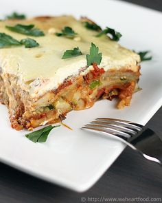 Eggplant-Potato Moussaka with Pine Nut Cream