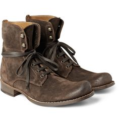 Lace-up boots range from rugged hiking boots to casual Chelsea boots. Whatever your look, you'll find lace-up boots to match your lifestyle at MR PORTER. Suede Boots, Lace Up Boots, Leather Boots, John Varvatos Boots, Convertible, Burberry Men, Gucci Men, How To Look Handsome, Everyday Shoes