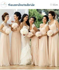 Champaign Bridesmaid Dresses