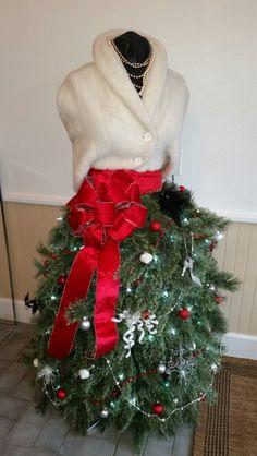 Dress form Christmas tree dress 2015