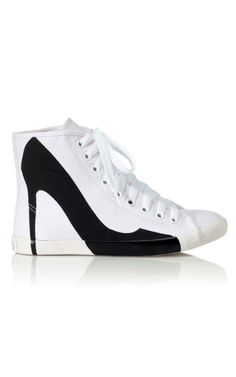 High heel sneakers... I love these