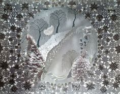 Hm. An idea of what to do with all of my own intricate snowflake and paper designs. www.zoebradley.com Tiffany's Christmas window display. Exquisite!