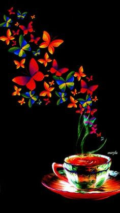 The perfect GoodMorning Butterfly Coffee Animated GIF for your conversation. Discover and Share the best GIFs on Tenor. Coffee Talk, I Love Coffee, Coffee Break, My Coffee, Coffee Shop, Coffee Cups, Coffee Gif, Coffee Images, Coffee Lovers