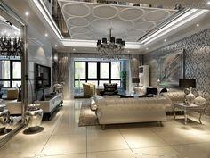 european-style-modern-living-room-ceiling-molding.jpg (1024×768)