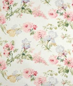 Waverly Forever Yours Spring Fabric Vintage Flowers Wallpaper, Flower Wallpaper, Wall Wallpaper, Paper Flower Backdrop, Paper Flowers, Chintz Fabric, I Believe In Pink, Floral Nursery, Vintage Sofa