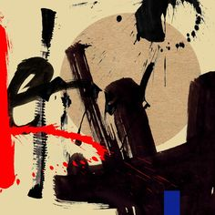My calligraphy artwork - E / 2014